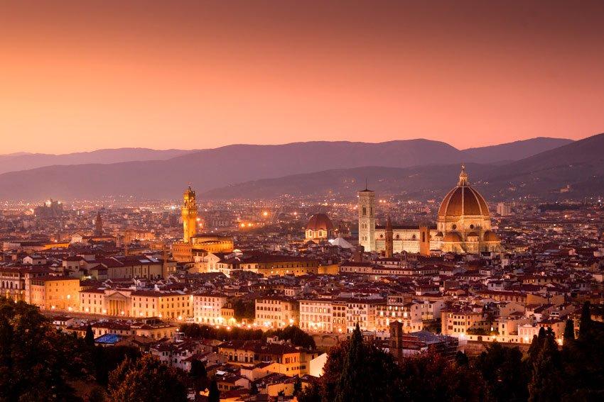 Ricevimento tra le nuvole panorama a Firenze - Daniele Panareo fotografo Lecce